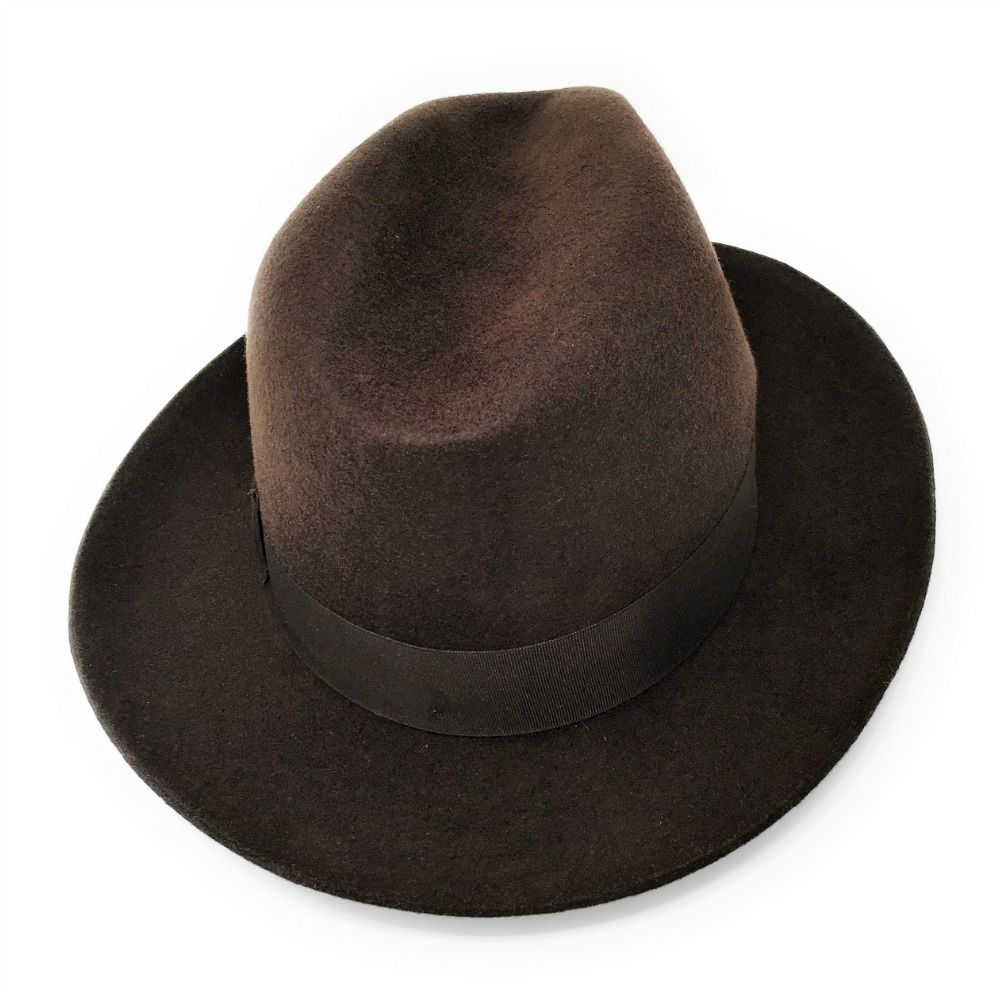 Mens Superb Quality Lined Fedora Hat - Indiana Jones Style - Brown ... af8925990fda